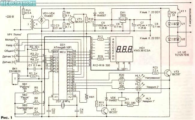 Блок управления электрокотла своими руками